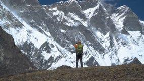 人在喜马拉雅山旅行 影视素材