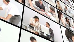 人在工作在办公室 股票录像
