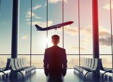 人在机场 免版税库存图片