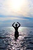 人在水中 免版税库存照片