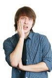 人在牙痛中 库存照片