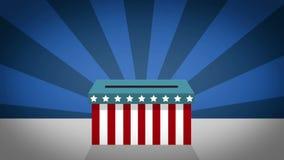 人在美国总统选举的决定票 向量例证