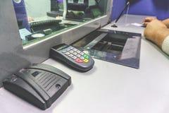 人在银行中 免版税库存照片