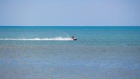 人在黑海,巴统的水滑行车去 免版税库存照片