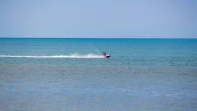 人在黑海,巴统的水滑行车去 库存图片