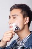 年轻人垂悬了他的胡子 图库摄影