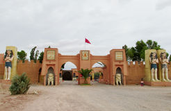 人埃及雕象地图集戏院演播室的在摩洛哥 免版税库存图片
