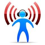 人声音 向量例证