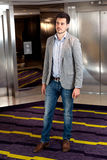 人大厅电梯 库存照片