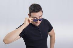人太阳镜 免版税库存图片