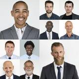 人套变化商人演播室画象 图库摄影