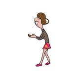 人妇女棕榈 库存例证
