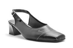 黑人妇女皮革凉鞋 库存图片