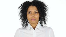 黑人妇女纵向 股票视频
