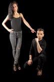 年轻人妇女黑色 图库摄影