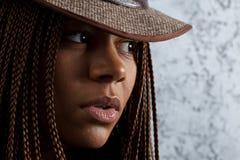 年轻黑人妇女 图库摄影