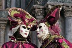 人威尼斯狂欢节面具 免版税库存照片