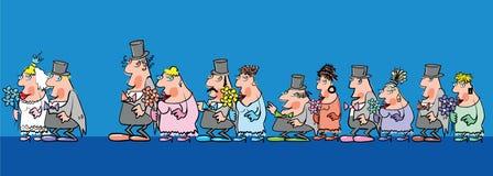 人婚礼 免版税库存照片