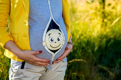 年轻人孕妇 库存照片