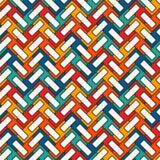 人字形墙纸 抽象木条地板背景 与重复的长方形瓦片的无缝的表面样式 皇族释放例证