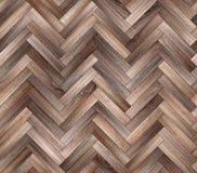 人字形自然木条地板无缝的地板纹理 免版税库存图片