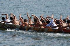 人实践的划船 免版税图库摄影