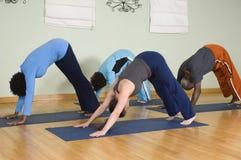 人实践的瑜伽 免版税库存照片
