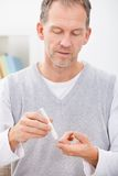 人审查的血糖水平 库存图片