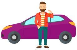 人对负关键从新的汽车 向量例证