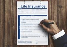 人寿保险政策使用条款概念 库存照片