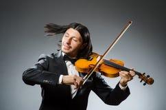 人小提琴球员 免版税库存照片