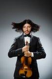 人小提琴球员 库存照片