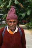 人尼泊尔老纵向 免版税库存照片
