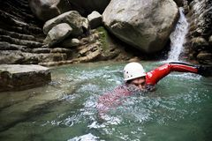 人峡谷在比利牛斯,西班牙 免版税图库摄影