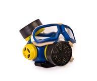 人工呼吸机和防护眼镜 免版税库存图片