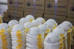 人工呼吸机设计和制造的工厂 库存图片