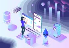 人工智能企业科学技术传染媒介例证 免版税图库摄影