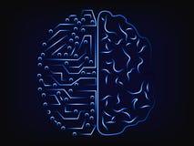 人工智能和人脑,脑子设计 库存图片
