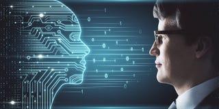 人工智能和ai概念 免版税库存照片