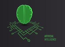 人工智能机器学习传染媒介 图库摄影