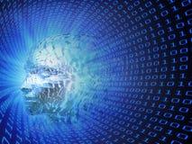 人工智能概念例证 免版税库存图片