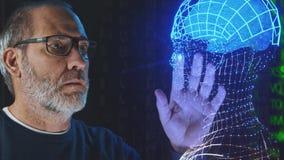 人工智能深刻的学习的脑子模仿 影视素材