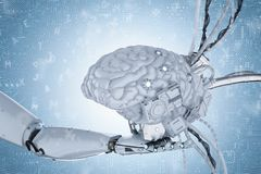 人工智能脑子 库存照片