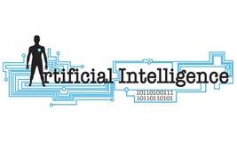 人工智能词概念性例证 免版税库存图片