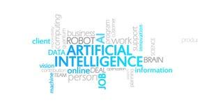 人工智能,生气蓬勃的印刷术 向量例证