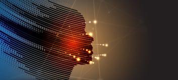 人工智能 技术网背景 真正浓缩 免版税库存图片