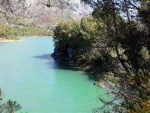 人工湖在瓜达莱斯特 西班牙 免版税库存图片