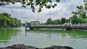 人工湖,桂林,中国 库存照片