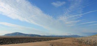 黑人库姆和湖区Cumbria 免版税库存图片