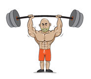 人强的重量健身 库存图片